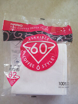 Hario V60 Coffee Drip Paper Filter 1-4 cup 100 pack Dripper Brewer VCF-