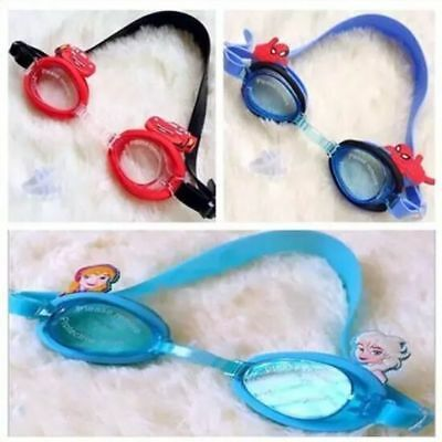 Disney FROZEN PIXAR CARS SPIDERMAN Kids Swimming Goggles Splash Swim Child GIFT