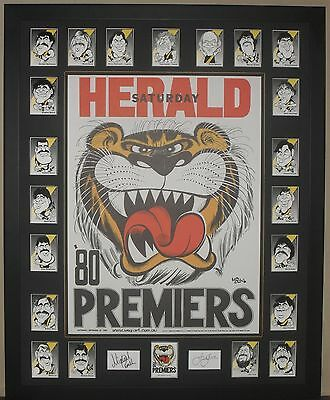 Richmond 1980 Premiership Weg Poster & Weg Card Set *Signed*