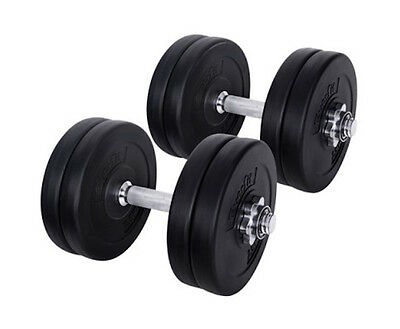 NEW Cast Iron Weight Plates Home Gym Fitness 25KG Dumbbell Barbell Set Exercise
