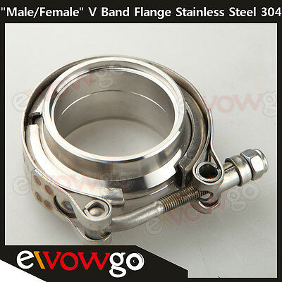 """2"""" Self Aligning """"Male/Female"""" V-Band Clamp CNC Stainless Steel Flange Kit"""