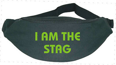 I Am the Stag / Stag Party / Stag Night / Stag Do - Fun Bum Bag - 5 Colourways