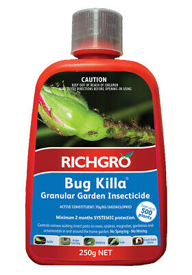 Bug Killa 250g Richgro Imidacloprid FRESH STOCK! Aphids Lace Beetle Insecticide