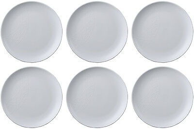 QUEENS JAMIE OLIVER WHITE 6 x SALAD PLATES (MUNCHIES) 23cm - BRAND NEW/UNUSED