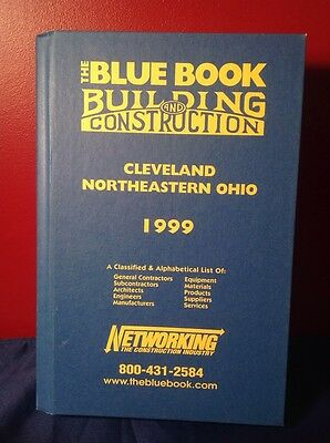 1999 Blue Book Building/Construction Book Cleveland Northeastern Ohio Free ship