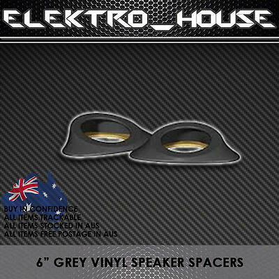 "Speaker Spacers Vinyl Grey Pods 6"" Split Angled Six Inch Component Spacer Pod"