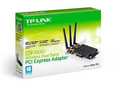 TP-LINK Archer T9E AC1900 Wireless 1900mbps Dual Band PCI Express Wifi Adapter