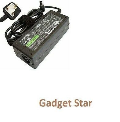 Genuine Sony Vaio 19.5 3.9A 65W Laptop Adapter Charger For Vgp-Ac19V26 19V26