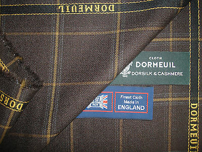 "DORMEUIL""DORSILK & CASHMERE""LUXURY JACKETING/SUITING FABRIC-MADE IN ENGLAND-2.0m"