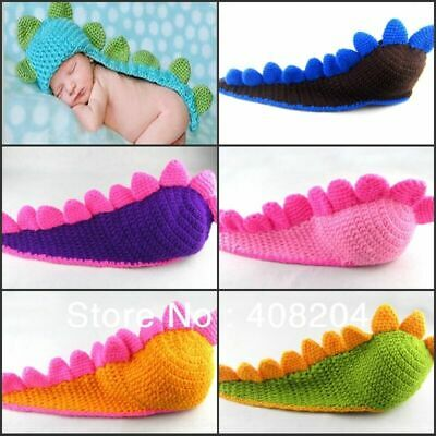 Dinosaur Newborn Baby Crochet Knit Costume Photo Photography Prop Hats Outfits