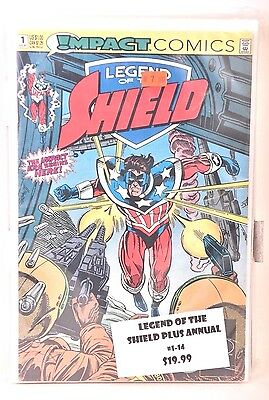 Legend of the Shield #1 2 3 4 5 6 7 8 9 10 11 12 13 -14 + Annual DC/Impact 1991