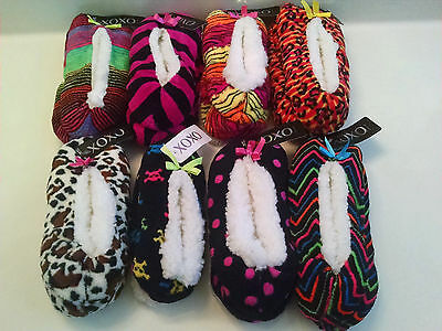 XOXO Womens Slipper Socks Non-Slip Ladies Sizes S M L Colorful Choices NWT