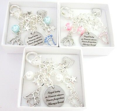 Angel baby in heaven above......BAG CHARM,baby loss,Infant,remembrance,memorial