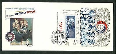 1975 First Day Cover FDC Apollo Soyuz NASA Russia USSR Space Station Fleetwood