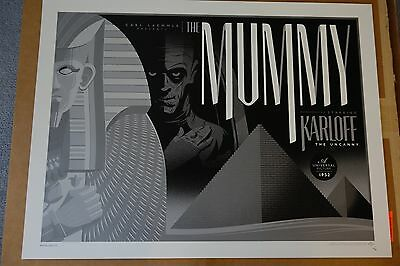 Tom Whalen The Mummy Variant Print DHM Universal Monsters