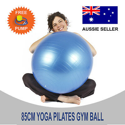 New 85cm Swiss Yoga Ball Pilates Equipment Fitness Home Gym Exercise With Pump