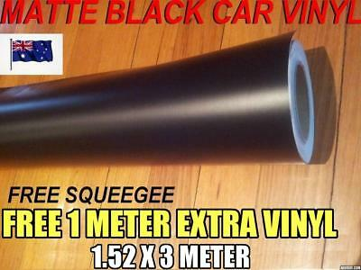 OZ Matte matt Black Car Vinyl Wrap,Roll,Sticker 1520mm x 3000mm,Squeege,BrandNew