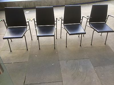 Vintage Industrial Fold Down Theatre/School/Church Seats Set of 4