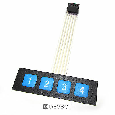 Clavier 4 touches, KeyPad 1x4. Arduino, Domotique, DIY, Raspberry Pi (v2)