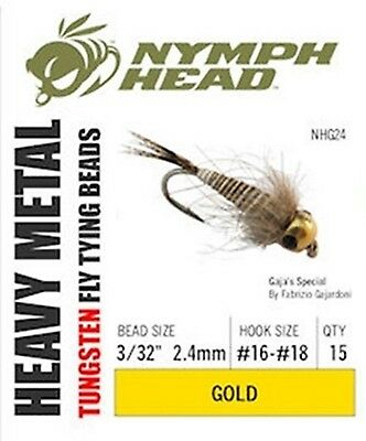 "TUNGSTEN ""NYMPH HEAD"" TYING BEADS -- 5 sizes to chose from.... Fly Tying"