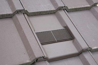 Roof Tile Vent To Fit Marley Wessex Roof Tiles | Optional Adaptor, Pipe Kit