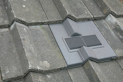 Roof Tile Vent To Fit Redland Delta Tiles | Flexi Pipe Adaptor Kit | 8 Colours