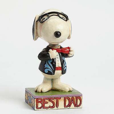 Snoopy Best Dad Figurine Peanuts by Jim Shore