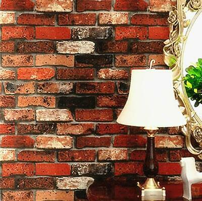 Wallpaper Sample Red Brick Wood Panel Stone Slate 3D Effect Vintage 45 Designs