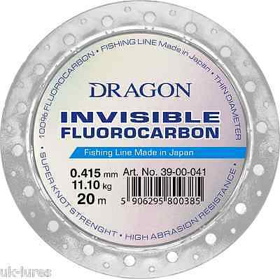 FLUOROCARBON Fishing Leader Dragon Invisible Made in JAPAN DROPSHOT SOFT LURE