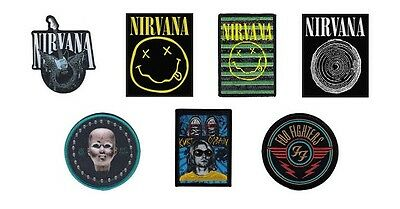 # NIRVANA / FOO FIGHTERS - OFFICIAL SEW-ON PATCH patches logo kurt cobain grohl