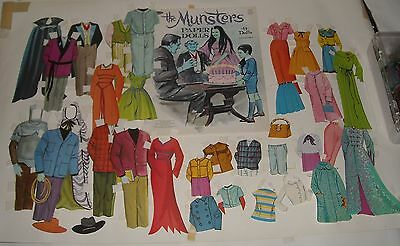 Whitman 1966 THE MUNSTERS PAPER DOLLS SET UnPUNCHED COMPLETE with CUT FASHIONS