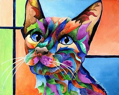 CALYPSO 8x10  CAT Art Print by Sherry Shipley
