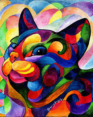 ZEN ZIGGY 8x10 CAT Art Print by Sherry Shipley