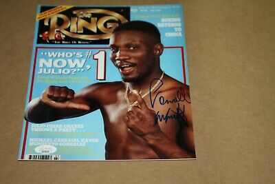 """PERNELL /""""SWEET PEA/"""" WHITAKER SIGNED 8X10 PHOTO RING MAGAZINE COVER"""