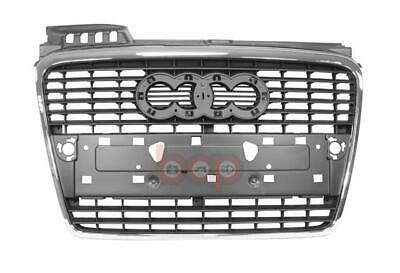 Audi A4 2005-2008 Front Centre Bumper Grille Silver Grey With Chrome  New