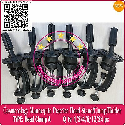 Training Head Foam Cosmetology Mannequin Head Wigs Holder Stand Desk Table Clamp