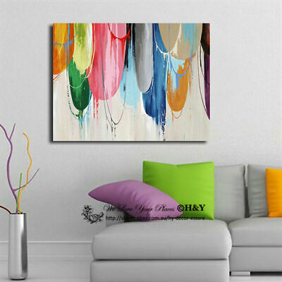 Abstract Color Pattern Stretched Canvas Print Framed Wall Art Home Office Decor