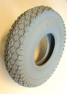 4.10/3.50-5 Grey Block Mobility Scooter Tyre 410/350x5