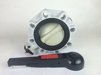 FIP FKOM/LM D160 DN150 PN10 Clean Butterfly Valve FPM PP PPGR