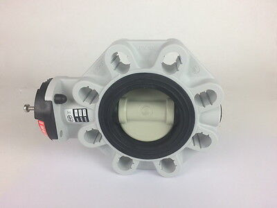 FIP FKOM/LM D90 DN80 PN10 Butterfly Valve FPM PP PPGR (No Handle)