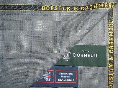 "DORMEUIL""DORSILK& CASHMERE' LUXURY JACKETING/SUITING FABRIC- 2 m-MADE IN ENGLAND"