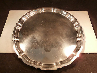 """Vintage Classic Heavy Gorham Sterling Silver 10"""" """"chippendale"""" Tray No Monogram"""