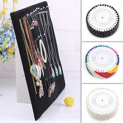 Jewelry Necklace Pendant Chain Bracelet Earring Show Display Holder Stand Neck