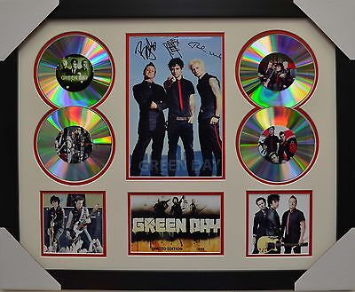 Green Day 4Cd Signed Framed Memorabilia Limited Edition