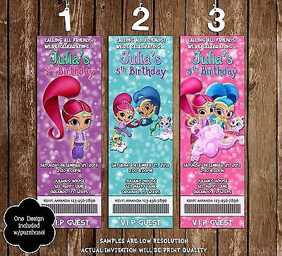 Shimmer and Shine - Nick Jr - Birthday Invitations - 20 Pack - 3 Designs