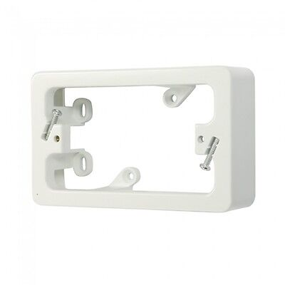10 x 34mm Standard Mounting Block - Powerpoint Switch Mounting - White