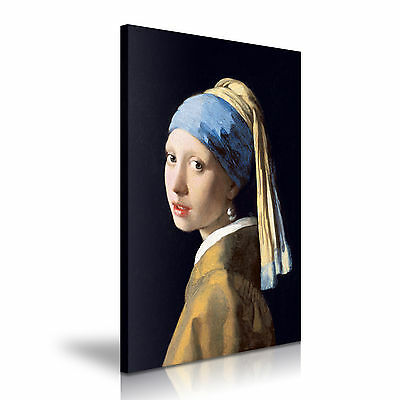 Girl with a Pearl Earring Johannes Vermeer Canvas Framed Print ~ More Size