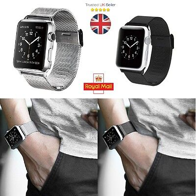 Milanese Mesh band Strap 38/40/42/44mm For Apple Watch Series 4/3/2/1 iWatch UK