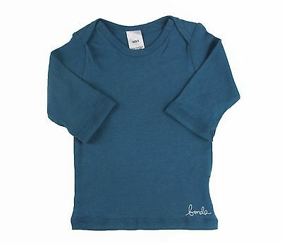 BONDS BABY BOYS GIRLS 3/4 LENGTH LONG SLEEVE TOP TEE TSHIRT BLUE GREEN Sale!