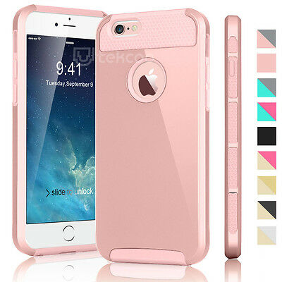 PC Shockproof Hybrid Rubber Hard Protective Cover Case For iPhone 6 / 6 Plus +